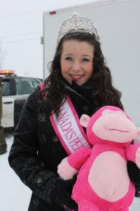 Canada's Perfect Jr. Teen 2014 Haley with a new pink buddy. :)